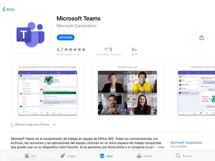App de Microsoft Teams.