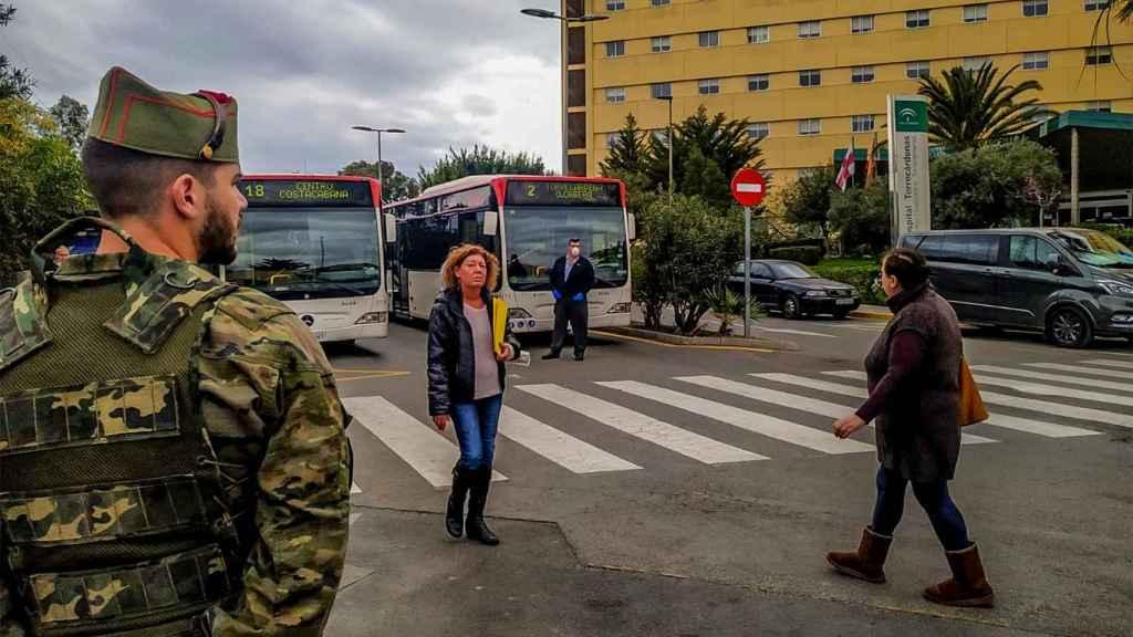 Otra patrulla de legionarios por las calles de Andalucía.