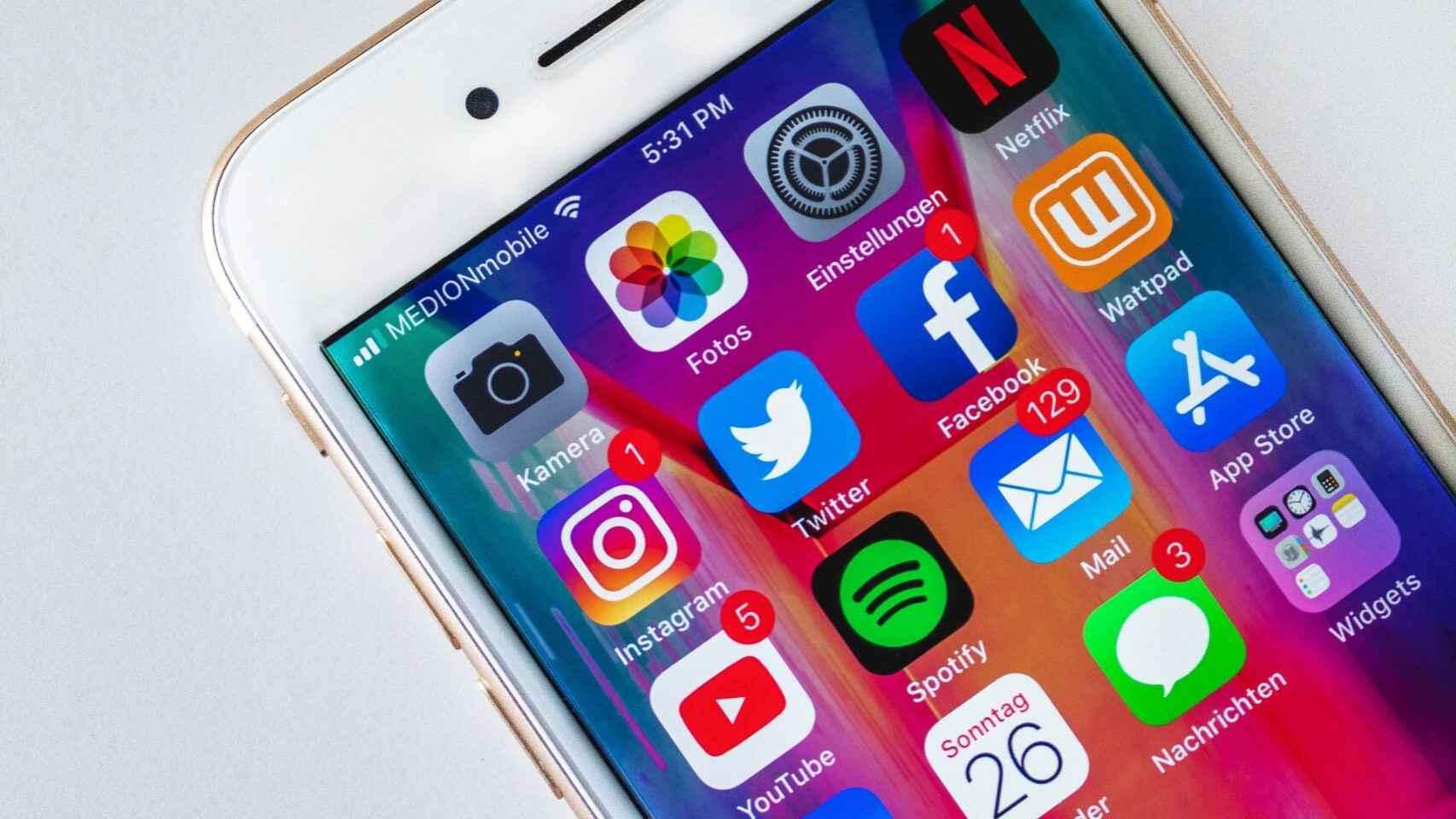 Redes sociales en iPhone