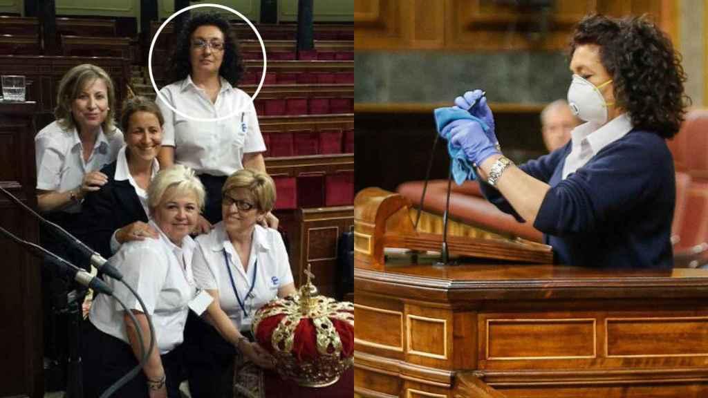 Valentina Cepeda, el día de la coronación de Felipe VI y durante el Pleno del coronavirus.