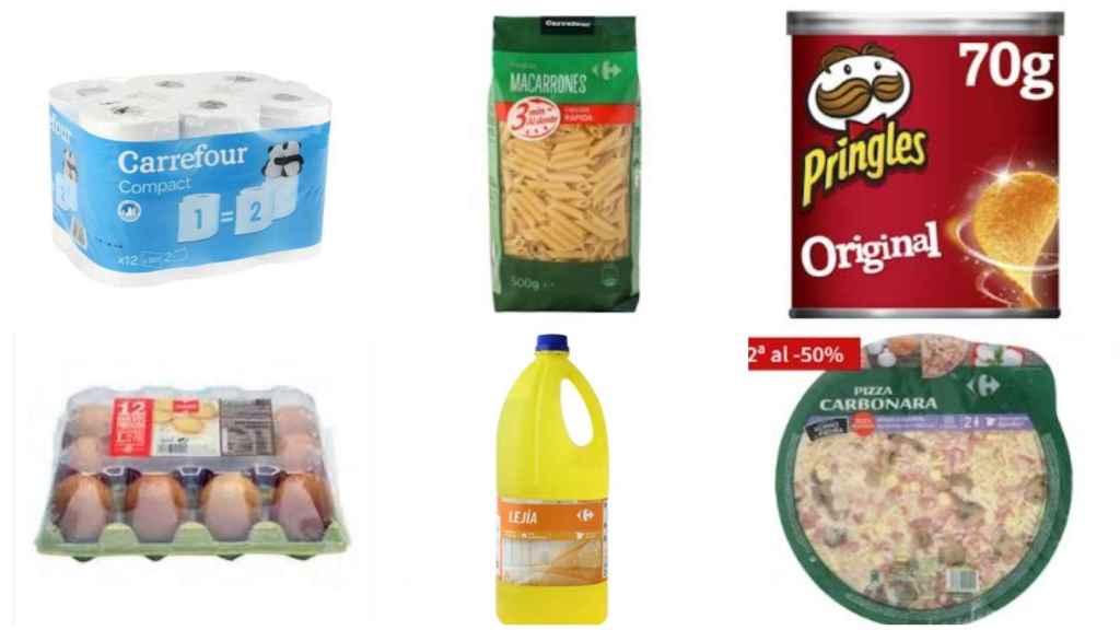 Productos agotados online en los supermercados.