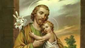 San José, junto con el niño Jesús.