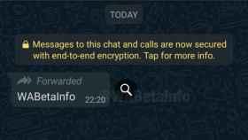 Búsqueda de mensajes en WhatsApp.