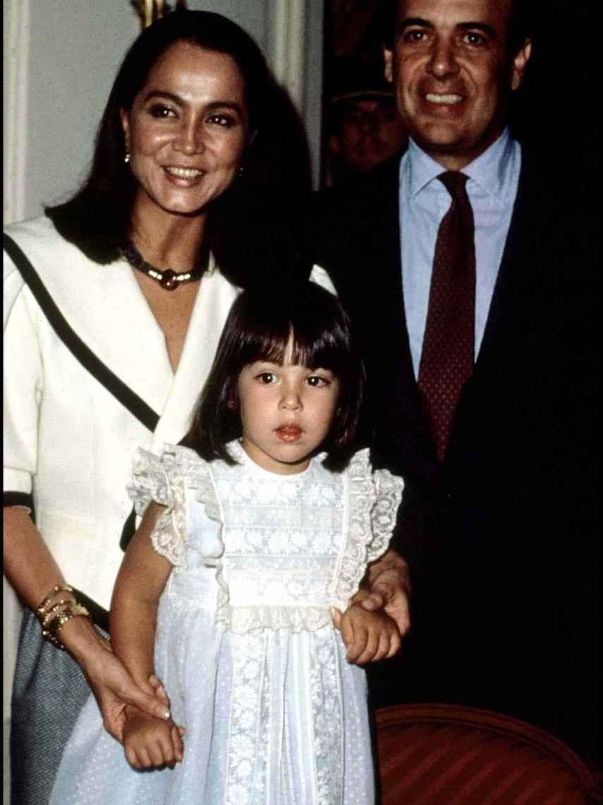 Isabel Preysler, Carlos Falcó y su hija Tamara Falcó Preysler.