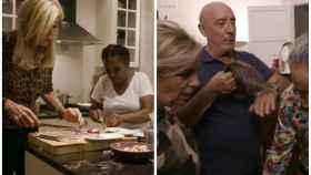 Dos momentos de la segunda emisión de lo nuevo de 'Ven a cenar conmigo: Gourmet Edition'.
