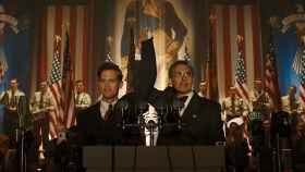 Lidbergh llegando a presidente en la realidad paralela de la serie.