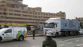 Actuación de Iberdrola para asegurar el suministro eléctrico a un hospital de campaña abierto durante la crisis.