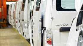 Imagen de la línea de producción de la furgoneta 100% eléctrica e-NV200 en Barcelona.