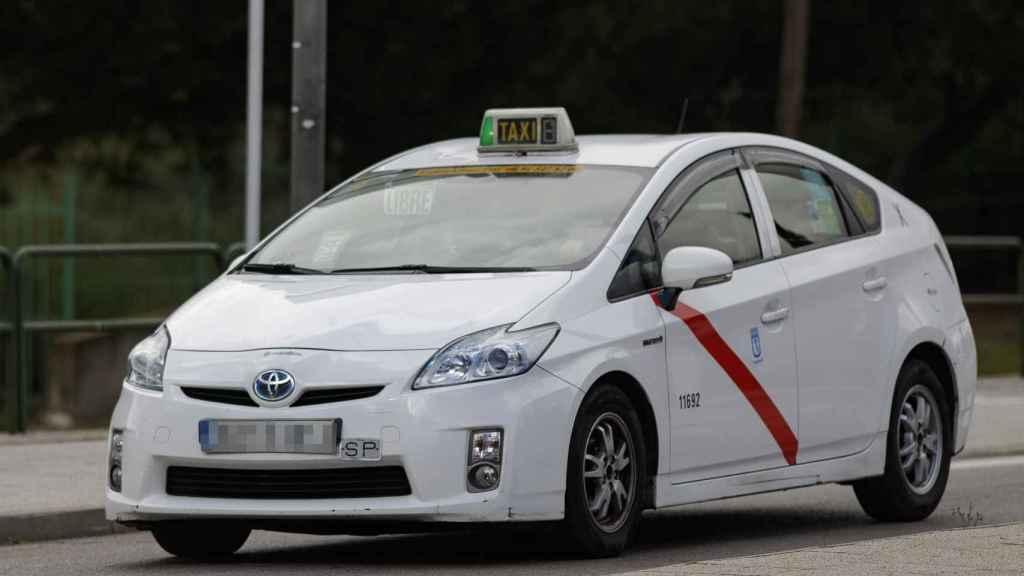 Uno de los taxi de la flota de taxis de Madrid.