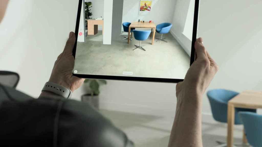 Realidad aumentada usando LiDAR en el iPad Pro
