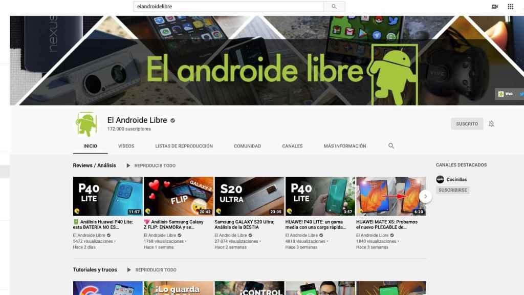 Canal de YouTube de El Androide Libre.