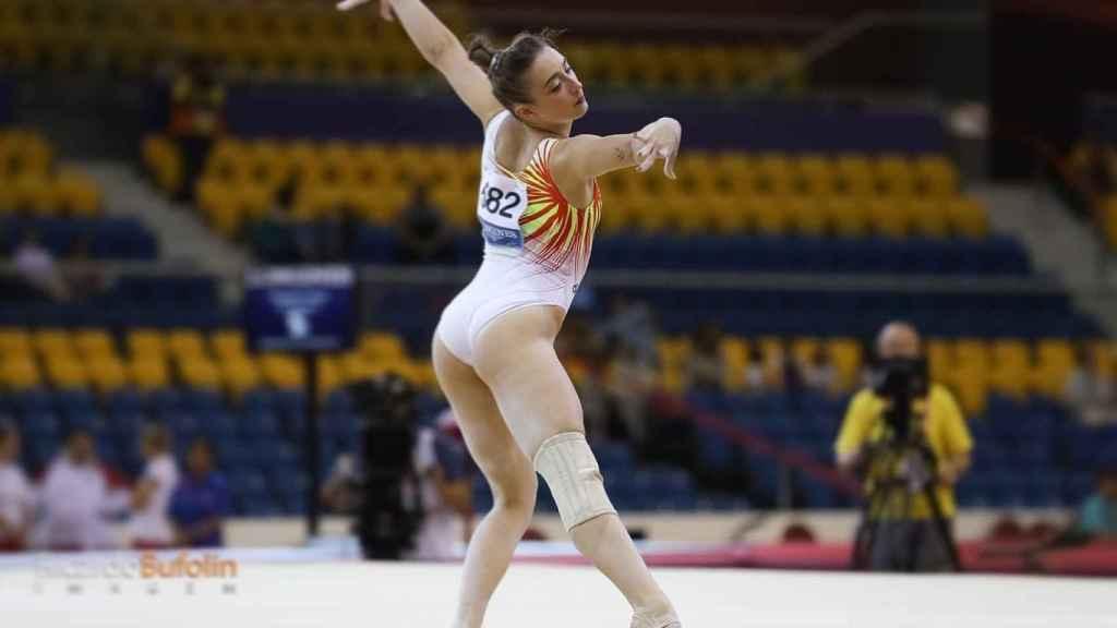 Cintia Rodríguez en plena competición