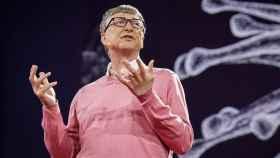 Bill Gates, durante su conferencia TED en 2015.