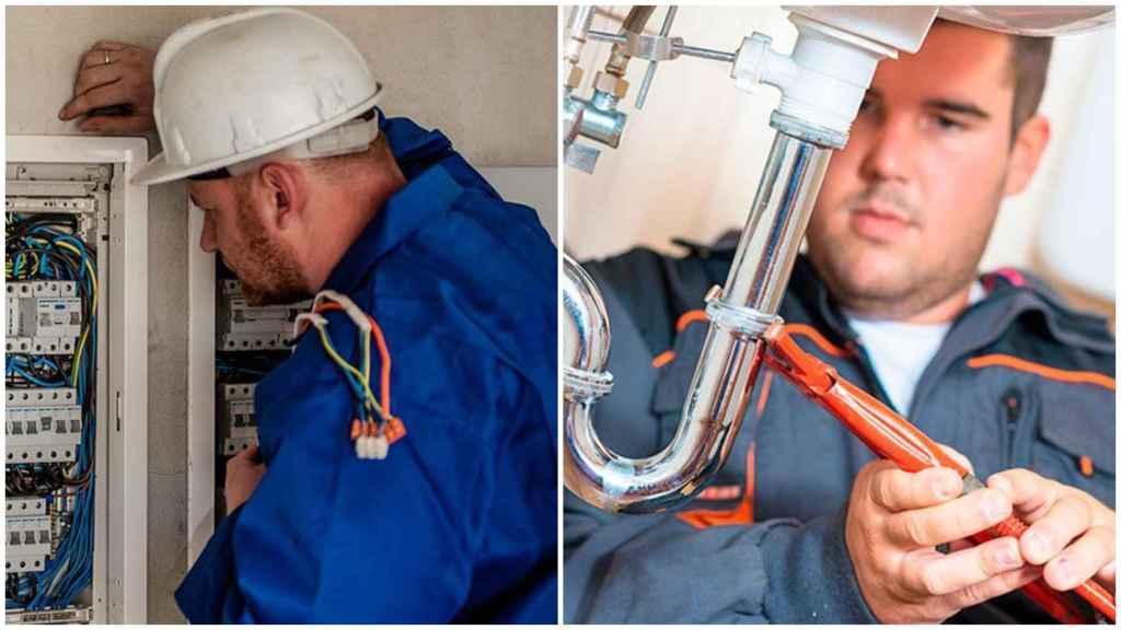 Un electricista y un fontanero.