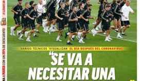 La portada del diario MARCA (21/03/2020)