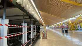 Establecimientos cerrados en el Aeropuerto de Barajas.