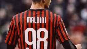 Daniel Maldini, hijo de Paolo Maldini, histórico capitán del AC Milan.