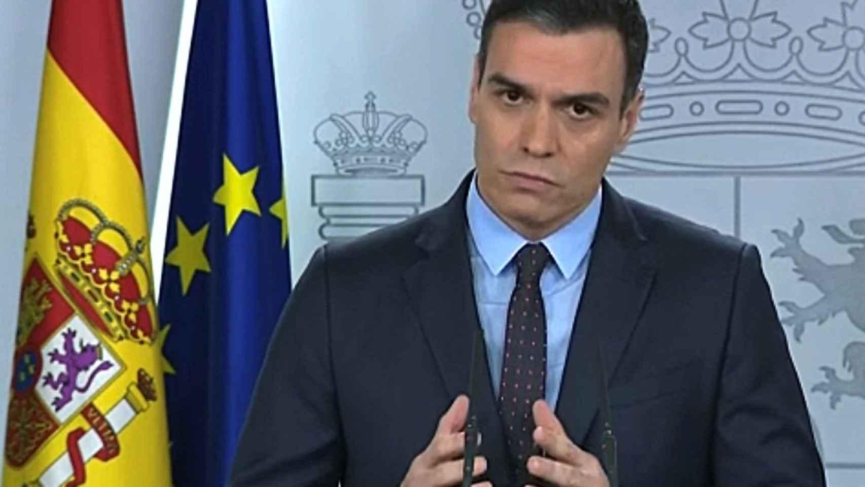 Pedro Sánchez, en la Moncloa.