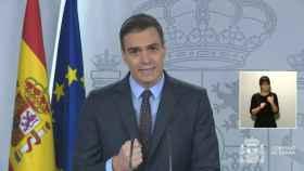 Pedro Sánchez, en Moncloa.