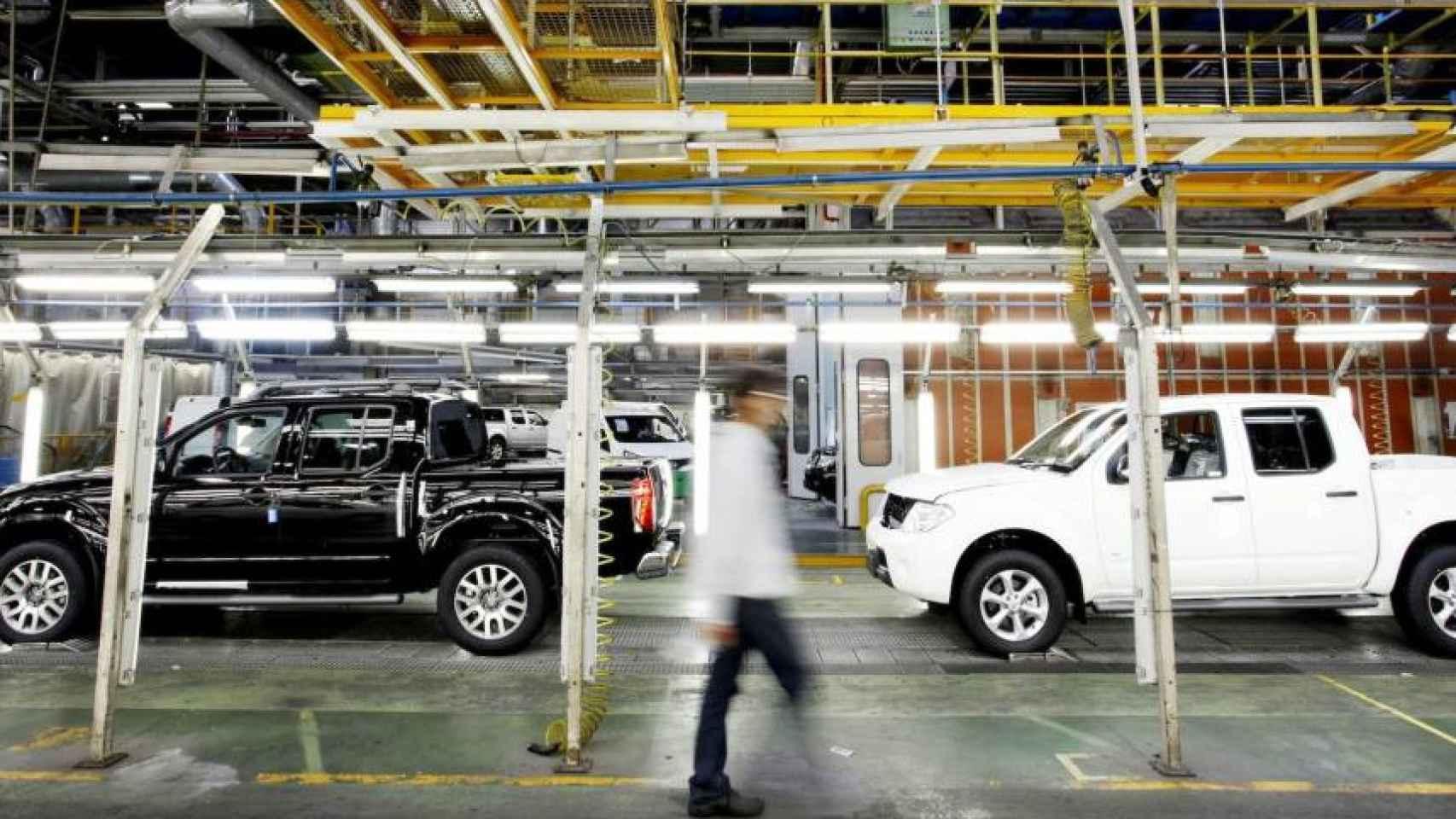 El interior de una de las plantas de Nissan.