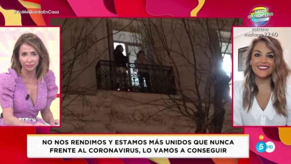 María Patiño emocionada tras informar sobre el coronavirus.