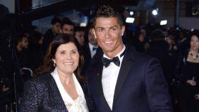 Dolores Aveiro junto a Cristiano Ronaldo en una imagen de archivo.