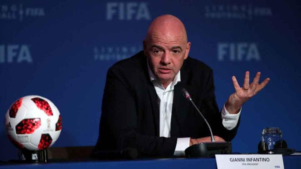 Gianni Infantino, durante un evento de FIFA