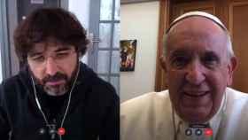 Jordi Évole con el Papa Francisco (Atresplayer)