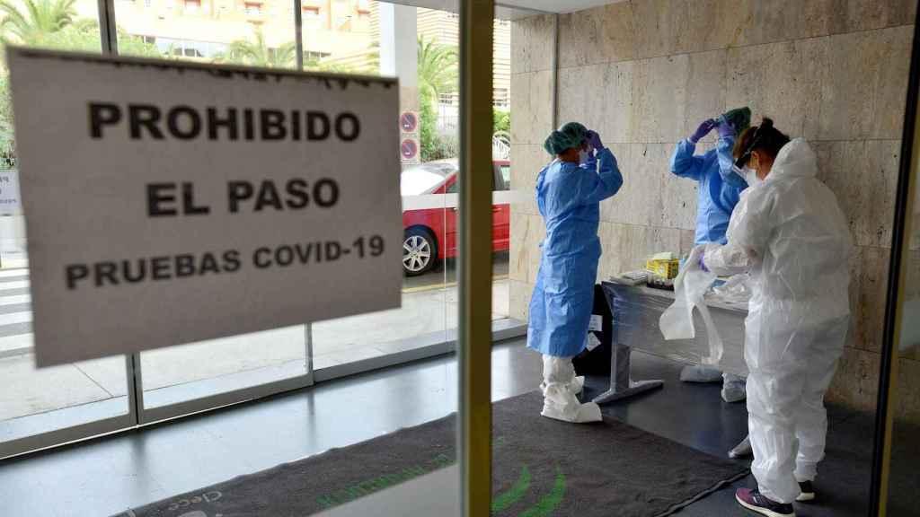 Pruebas de test rápido del coronavirus en Almería.