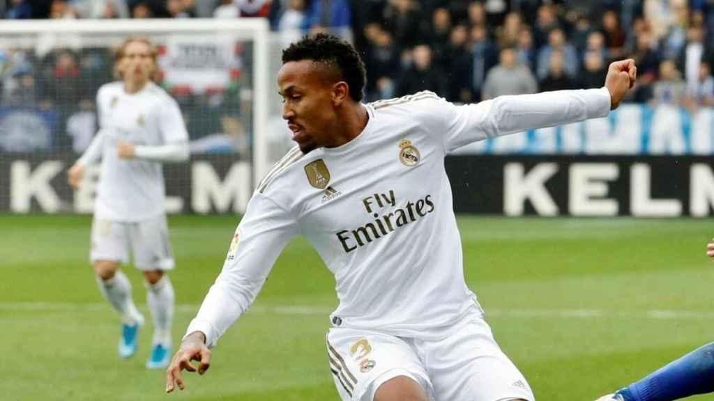 Eder Militao, durante un partido de esta temporada con el Real Madrid