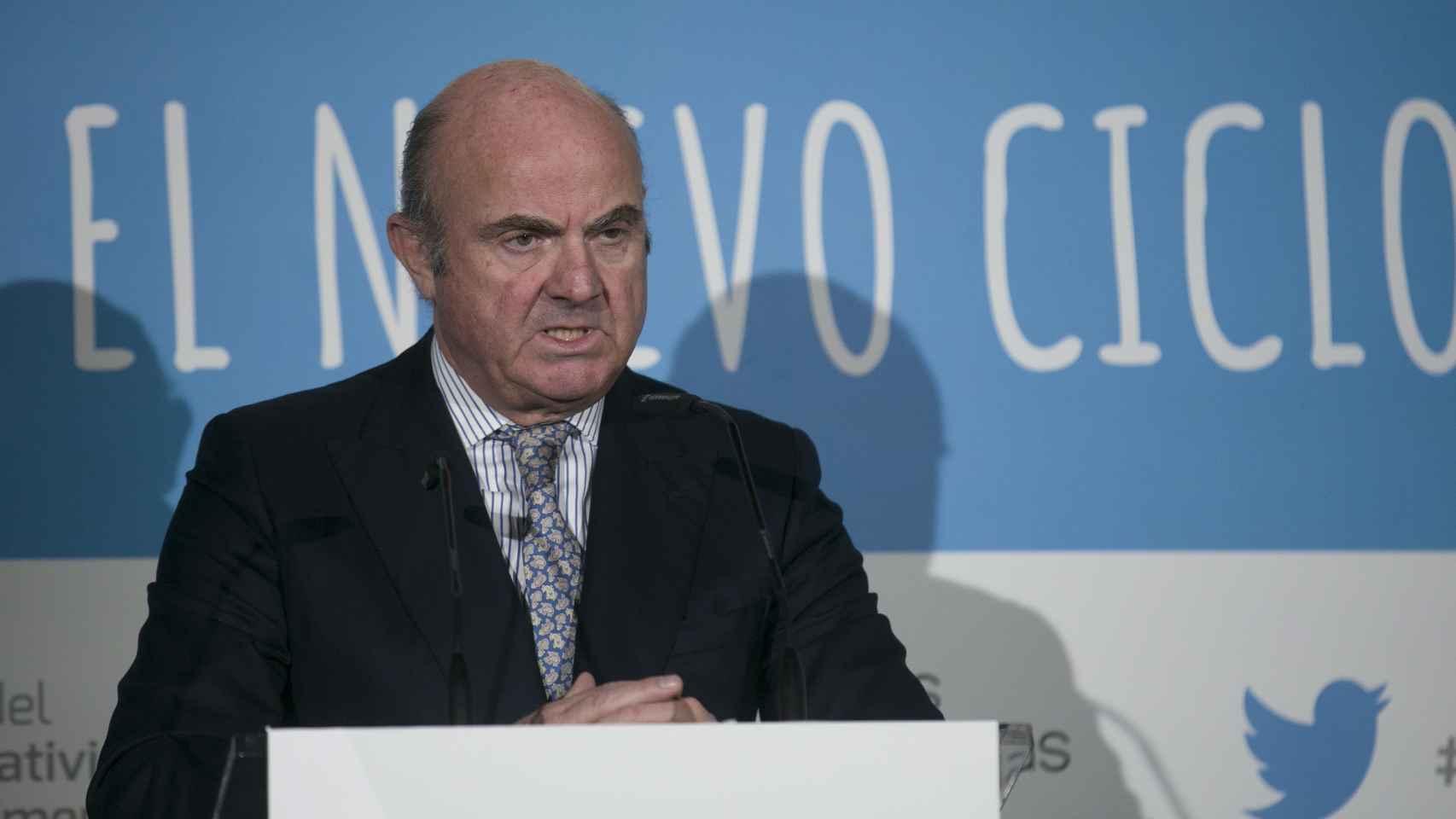 El exministro de Economía, Luis de Guindos.