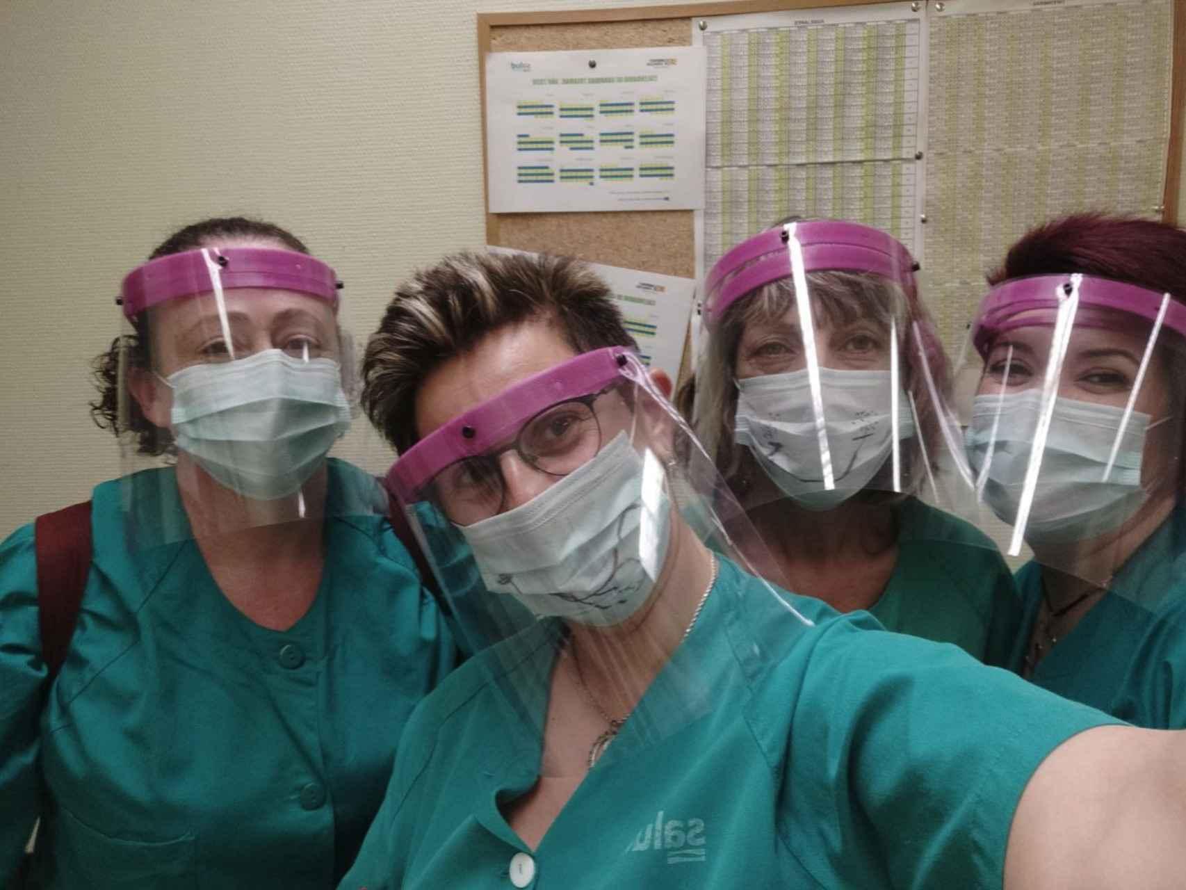 Sanitarias con pantallas de protección impresas en 3D
