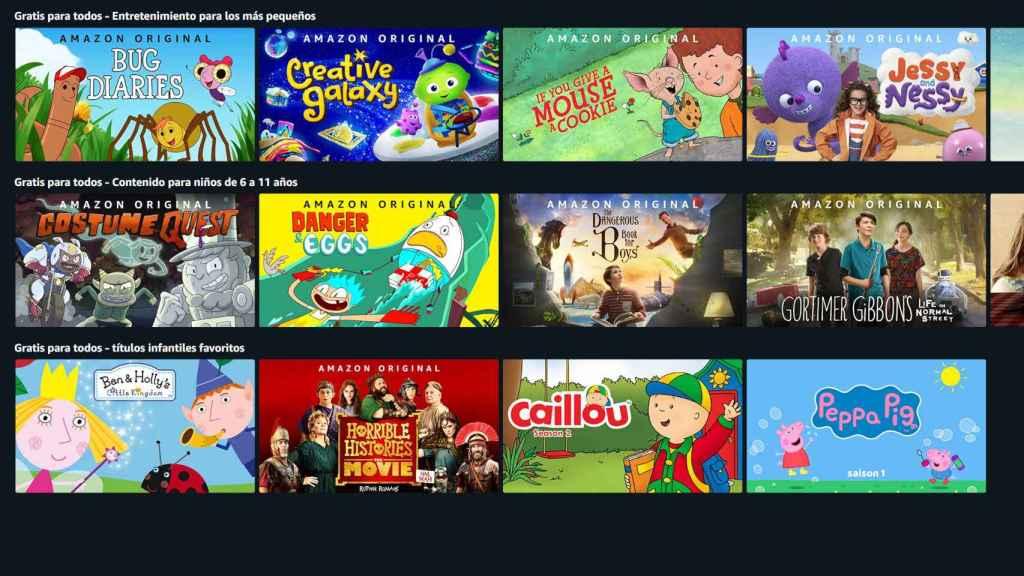 Algunas de las series disponibles gratis en Amazon Prime Video