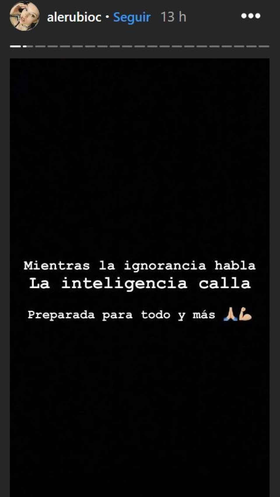El claro mensaje de Alejandra Rubio ante la 'amaenaza' de su ex.