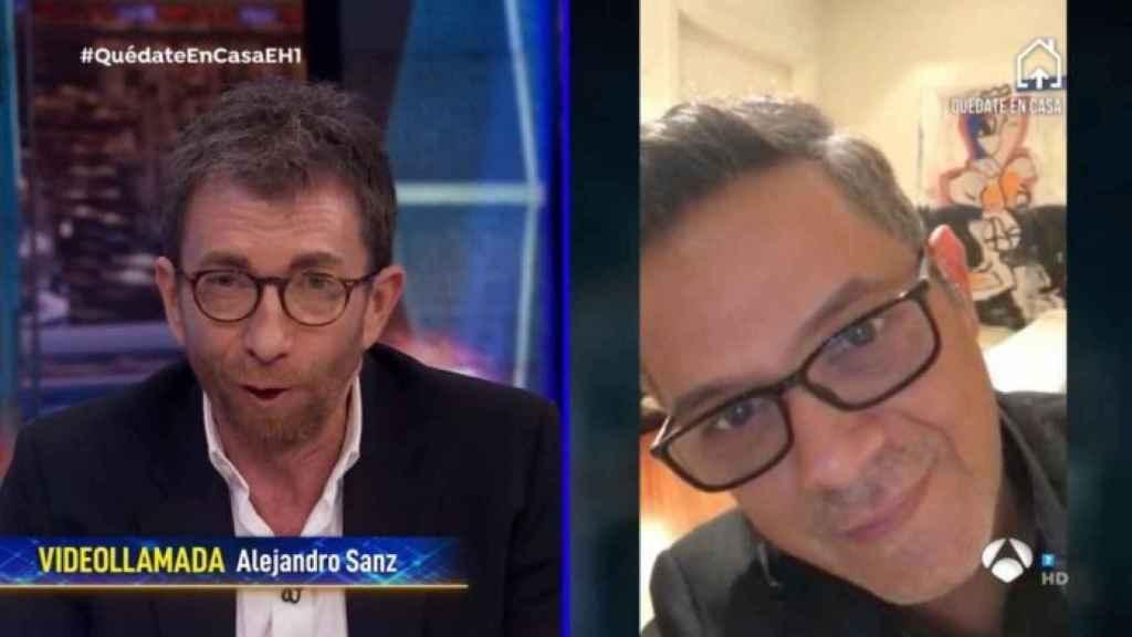 Pablo Motos y Alejandro Sanz.