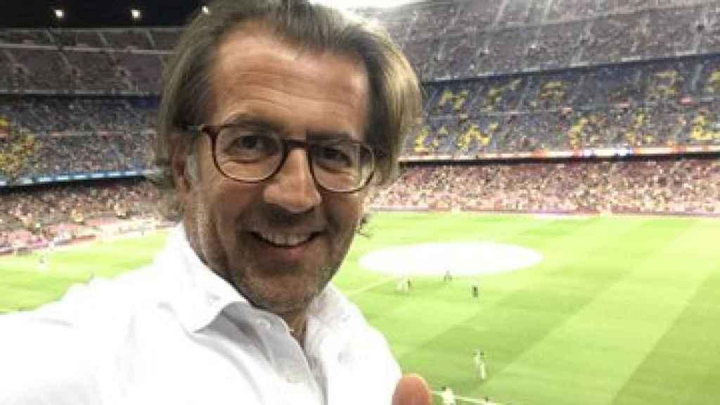 Toni Freixa, en el Camp Nou