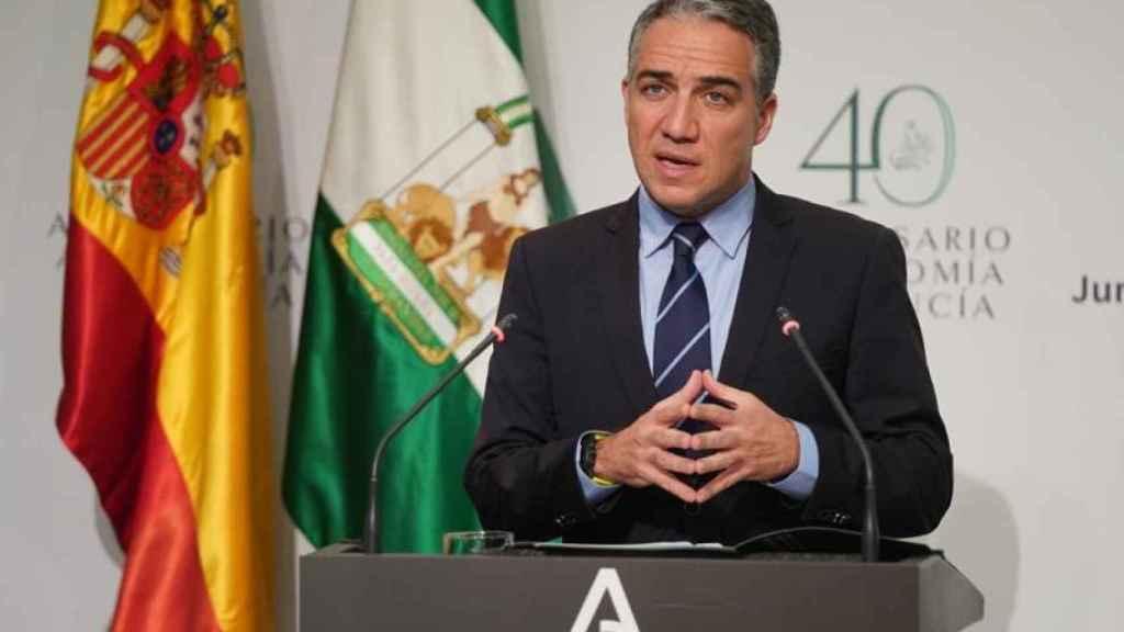 El consejero de Presidencia de la Junta de Andalucía, Elías Bendodo.
