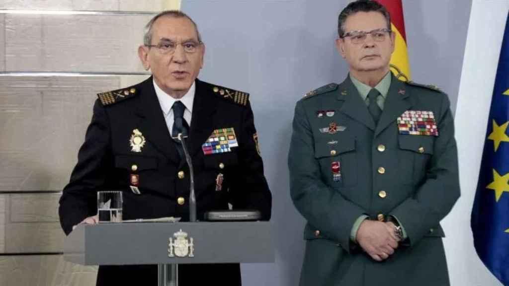 El DAO de la Policía Nacional, José Ángel González, y el de la Guardia Civil, Laurentino Ceña.
