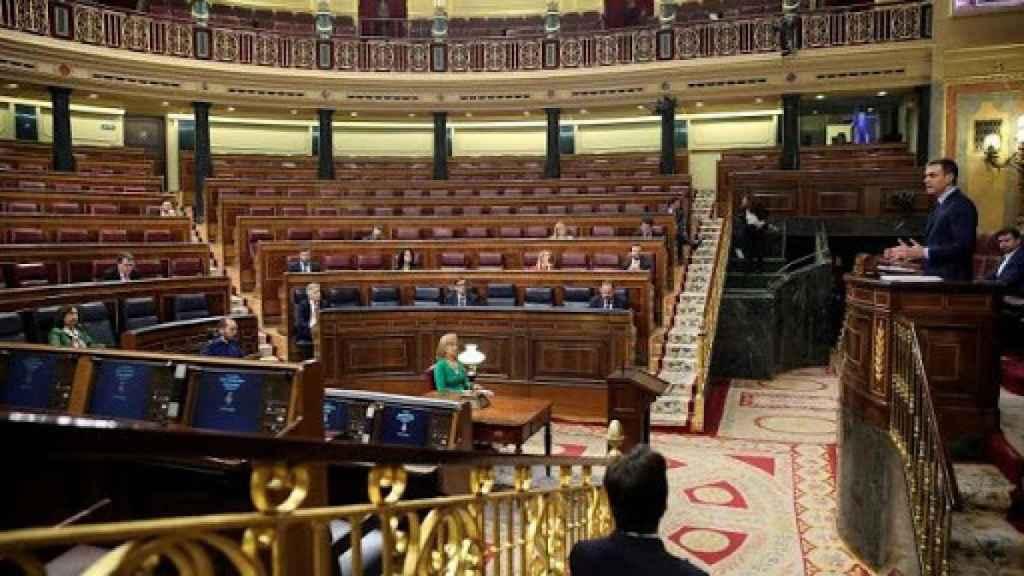 El Congreso de los Diputados semivacío en el pleno del pasado miércoles.