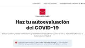 Imagen de la web coronamadrid.com.