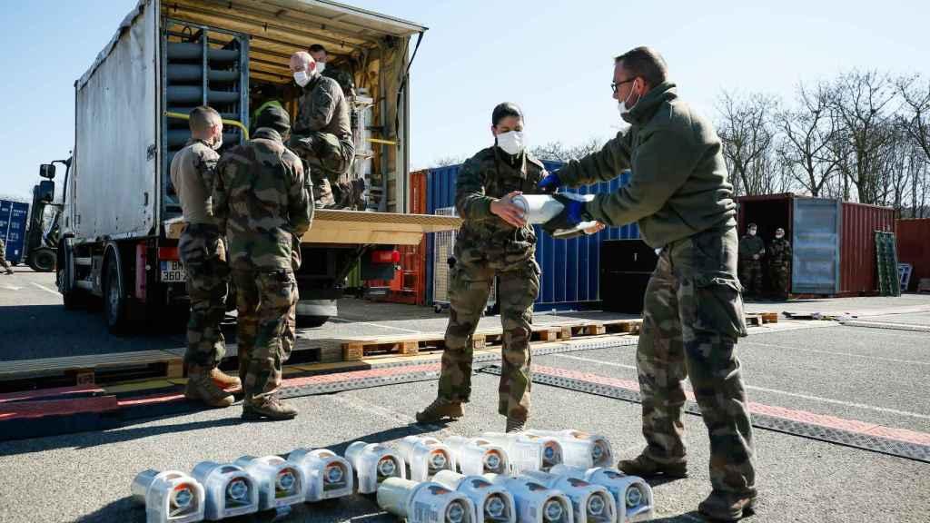 Ejercicios militares en Francia para el dispositivo contra el coronavirus