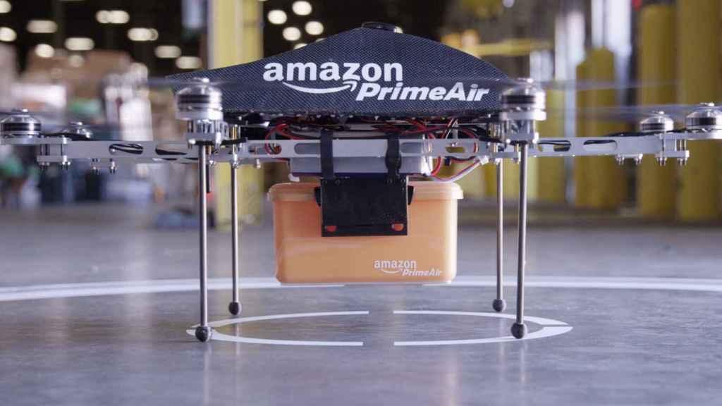 Un dron de Amazon Prime Air.