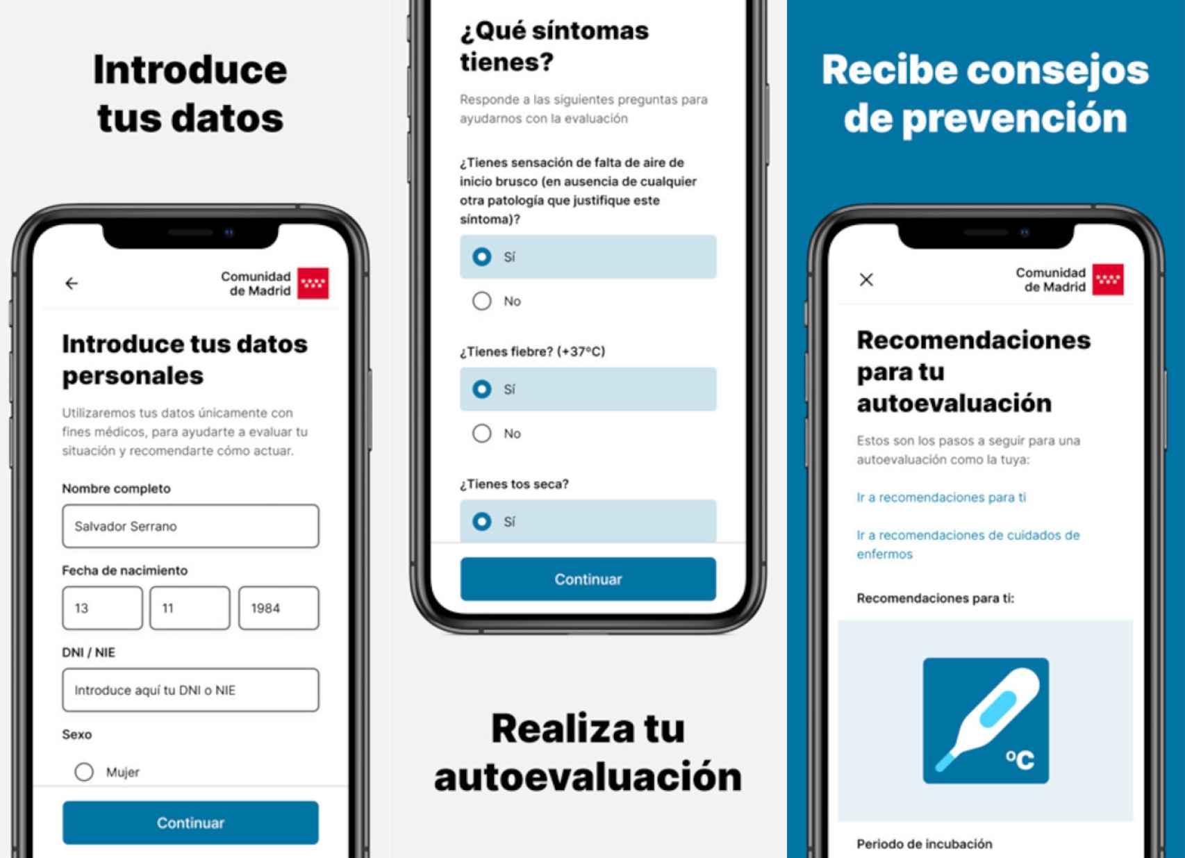 App del coronavirus de la Comunidad de Madrid para iOS
