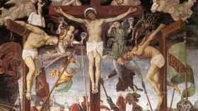 Imagen de San Dimas el Buen Ladrón junto a Jesús