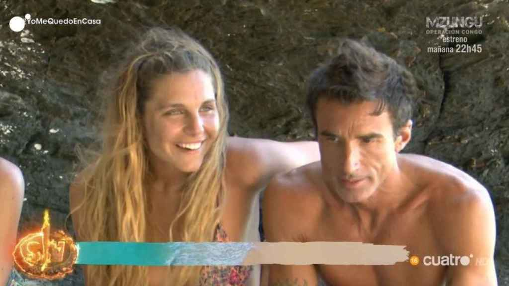 Ivana junto a Hugo Sierra durante 'Supervivientes: Tierra de nadie'.