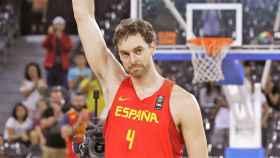 Pau Gasol, durante un partido con la selección española de baloncesto