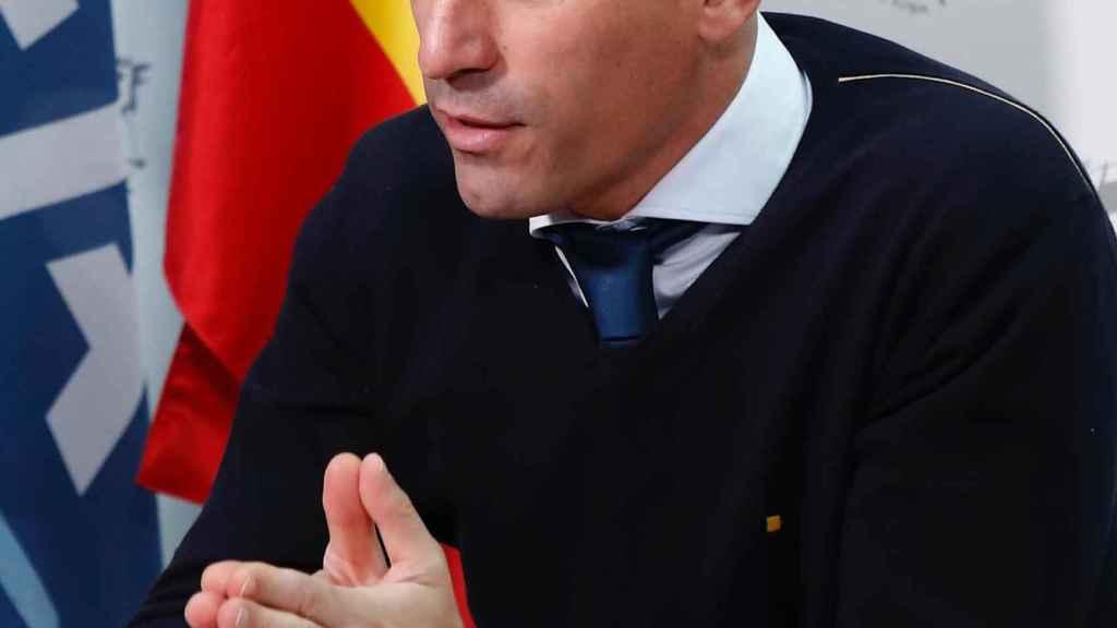 Luis Rubiales, desde la Ciudad del Fútbol de Las Rozas