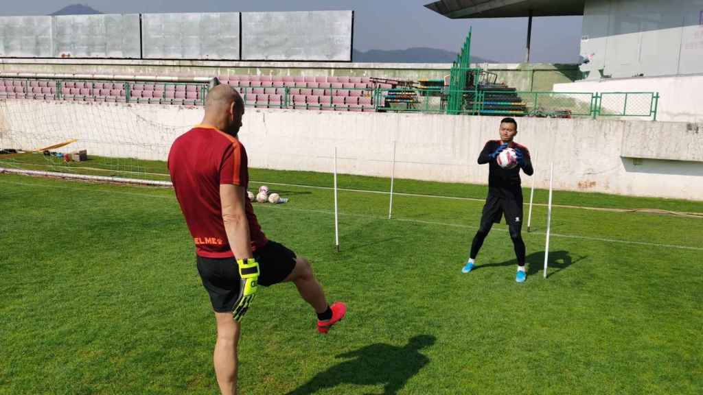 Paco Ruiz, durante un entrenamiento
