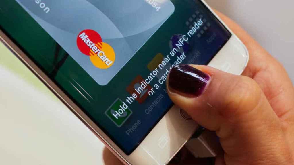 Aplicación de Samsung Pay Mastercard.