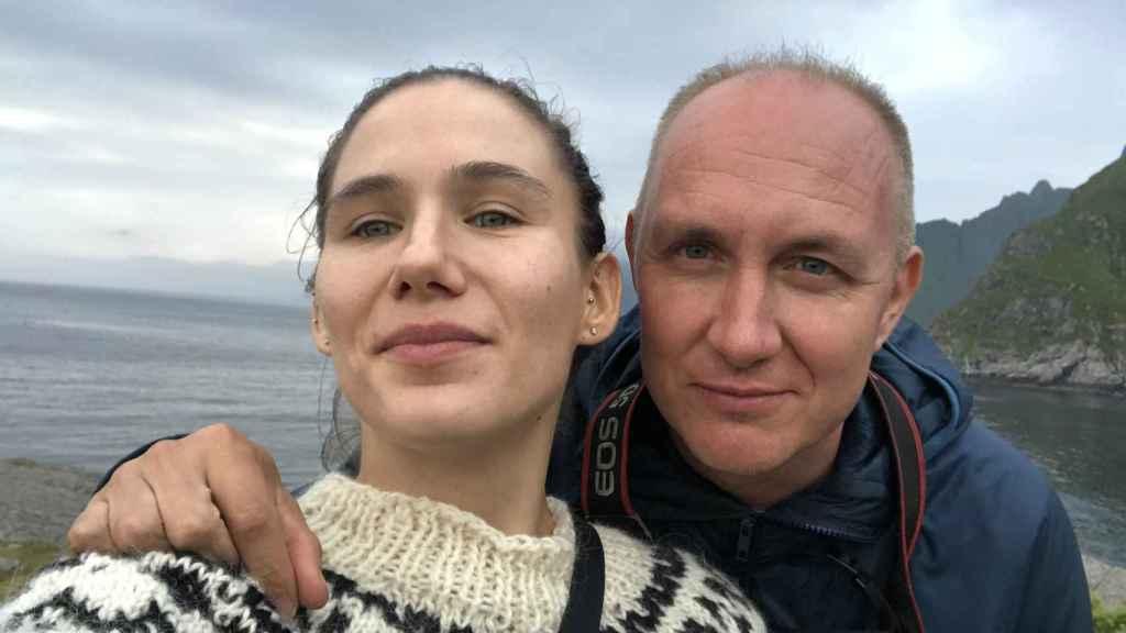 Víctor y su exmujer en Noruega.
